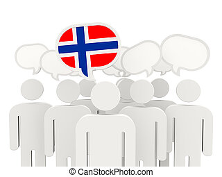 People with flag of norway