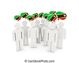 People with flag of saint kitts and nevis