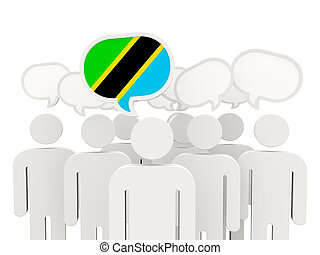 People with flag of tanzania