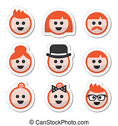 People with Ginger vector hair icon