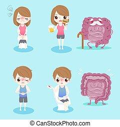 people with intestine health