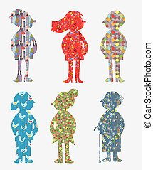 People with pattern concept
