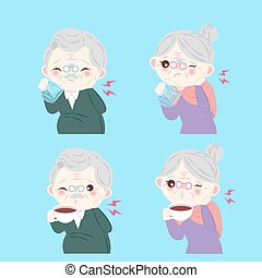 people with sensitive tooth - old people with sensitive...
