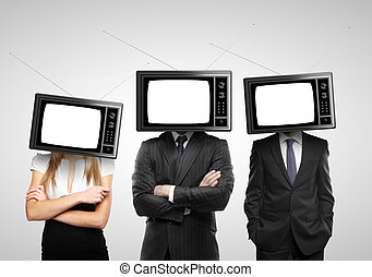 people with tv head