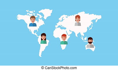 people with world planet earth
