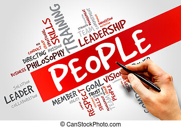 PEOPLE word cloud, business concept