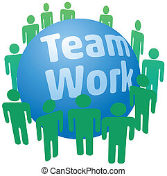 People work in teamwork team