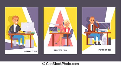 People work place vector business worker or person working on laptop at the table in office backdrop coworker or character workplace on computer illustration background