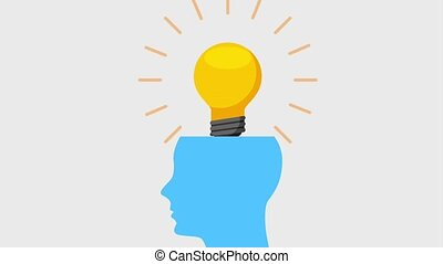 people work team animation hd - blue silhouette head with...