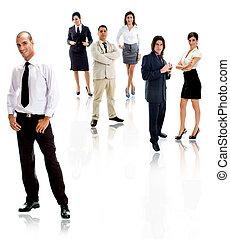 people - workforce - workforce of people on white background