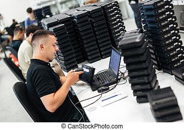 People working in network industry