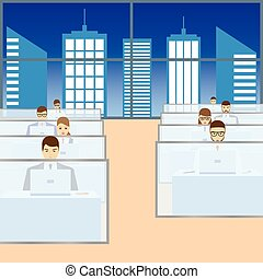 People working in the office.