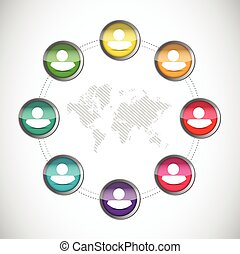 people world network illustration design