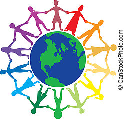 People World - Vector of people all around the world holding...