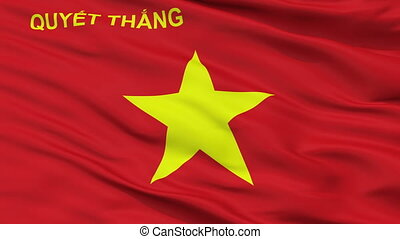 Peoples Army Of Vietnam Flag Closeup Seamless Loop - The...