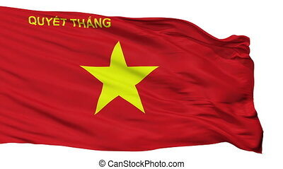 Peoples Army Of Vietnam Flag Isolated Seamless Loop - The...
