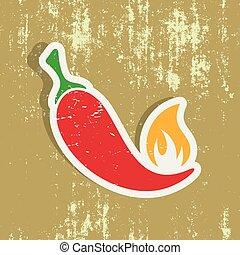 pepe peperoncini rossi, etichetta