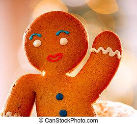 peperkoek, man., kerstmis, feestdagen
