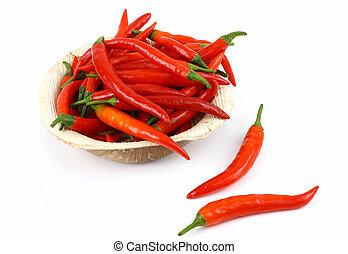 peperoncini rossi, rosso caldo