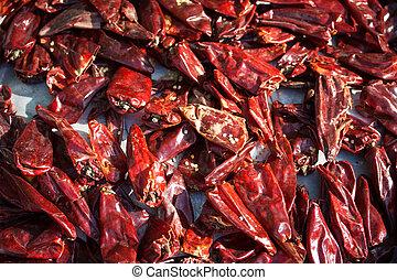 peperoncini rossi, secco