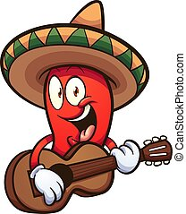 peperoncino, messicano, pepe
