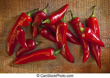 peperoni, chili caldo, rosso