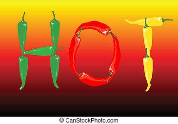 peperoni, chilli, caldo