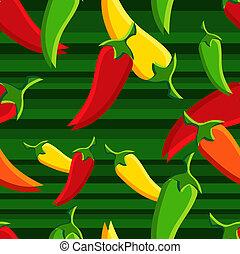 peperoni, chilli, modello, backgroun
