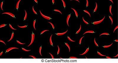 peperoni, chilli, seamless