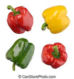 peperoni, dolce, bianco, isolato