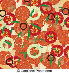 peperoni, illustration, pizza