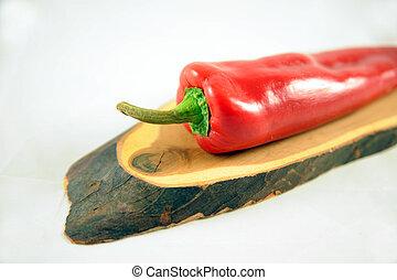 Peperoni on a board