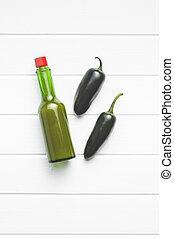 peperoni, tabasco, sauce., jalapeno, verde