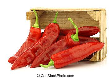pepers, fris, (capsicum), rood, zoet