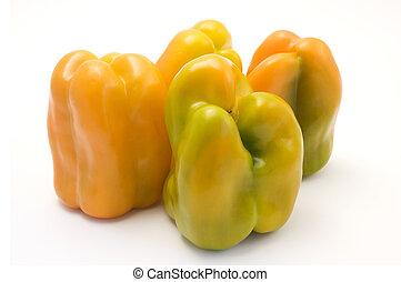 pepers, gele, klok