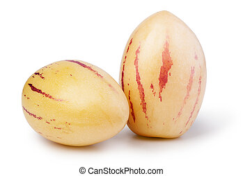 pepino melons on a white background