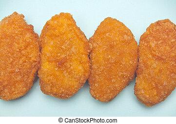 pepita, pollo, bocado