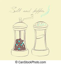 peppar, salt