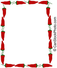 Pepper Border - Pepper border over white.
