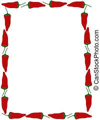 Pepper border over white.