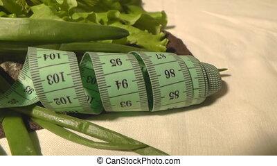 Pepper, cucumber, greens, lettuce, centimeter, healthy...