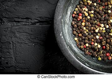 Pepper in a bowl.