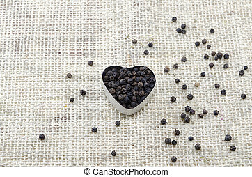 Pepper in a heart shaped box