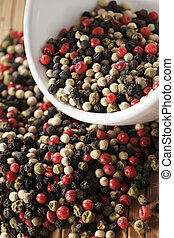 Pepper mix - A mix of black, green, red and white...