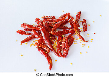 pepper on a white background
