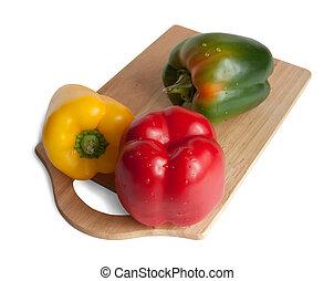 pepper on cutting board