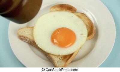 Pepper On Egg
