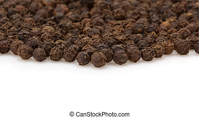 pepper spices on white background