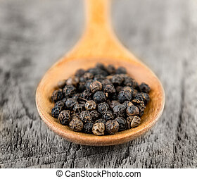 peppercorn in spoon