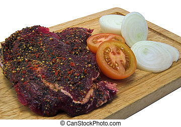 peppered, steak